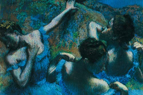 Edgar Degas The Blue Dancers Art Print Poster 18x12 inch