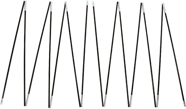 Poste de tienda doble 133.8 pulgadas 2 juegos 7 secciones Barra de fibra de vidrio para acampar al aire libre Kit de marcos de soporte para poste de tienda doble apto para acampar viajar caminar