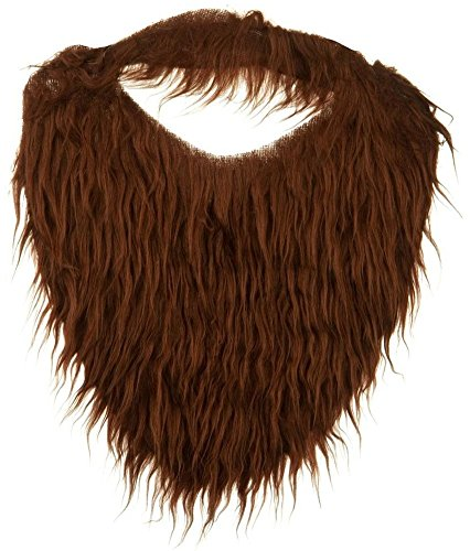 Jacobson Hat Company Men's Beard with Elastic, Brown,