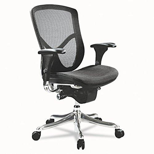 Series Eq - Alera EQ Series Ergonomic Multifunction Mid-Back Mesh Chair, Aluminum Base