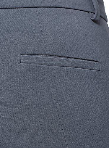 Elasticizzati Oodji Ultra Donna Stretti 7500n Blu Pantaloni aqawTrt