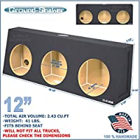 Regular Cab / Single cab Sub Box 12 Triple Sealed Sub woofer Enclosure