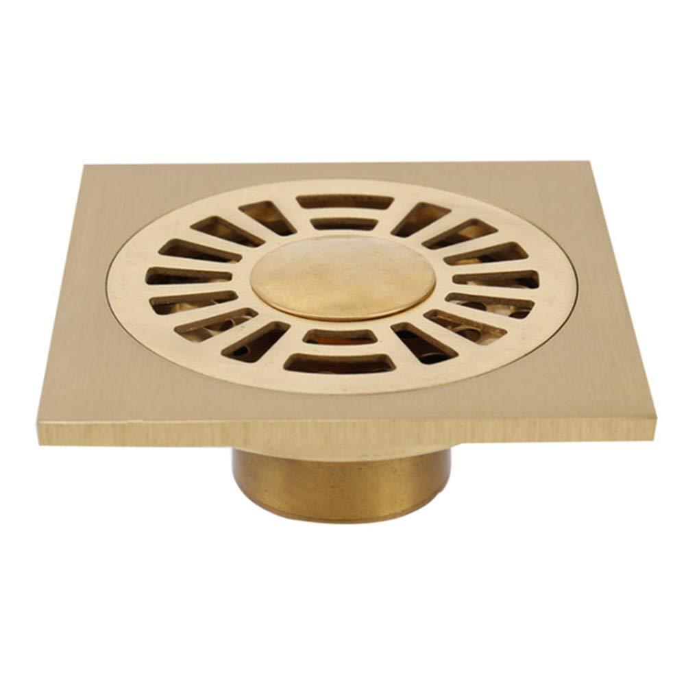 Euro Floor Drains Antique Brass Shower Floor Drain Bathroom Deodorant Euro Square Floor Drain Strainer Cover Grate Waste