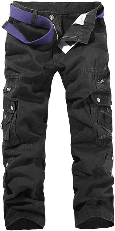 LaoZan Pantalones Cargo para Hombre - Pantalon De Chandal Pantalón ...