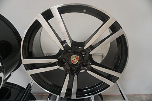 Por Rep gu-1nlf-no03 22 pulgadas Llantas de Porsche Cayenne Turbo S GTS Spyder Diesel, Q7, VW Touareg ruedas/Neumáticos 22 x 10 mecanizado/Negro: Amazon.es: ...