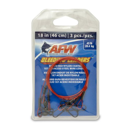American Fishing Wire Bleeding Leaders, 45 Pound Test, 18 -Inches, 3-Pack