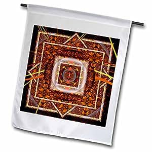 mimulux Psychedellic Art - Mandala 30 earth zen InnerBalance orange brown peace harmony - 12 x 18 inch Garden Flag (fl_42581_1)