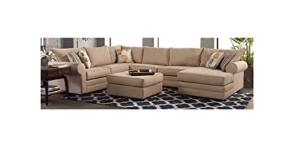 Pleasing Amazon Com Chelsea Home 4 Pc Sleeper Sectional Sofa Set In Download Free Architecture Designs Terstmadebymaigaardcom