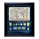 American Coin Treasures New York Times Pearl Harbor 70th Anniversary Coin and Stamp Collection Framed