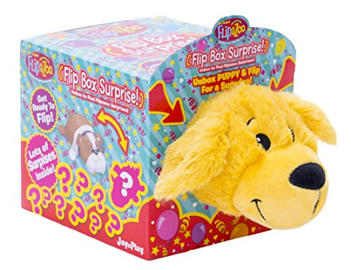 Flipazoo Golden Puppy Flip Box Surprise! Unbox and Flip for a Surprise! Includes Plush Flipazoo, Hat, Collar, Charm, Stickers, Sunglasses, Bowl and - Sunglasses Coloring Emoji Pages