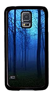 Samsung Galaxy S5 Cases & Covers - Blue Landscape PC Custom Soft Case Cover Protector for Samsung Galaxy S5 - Black