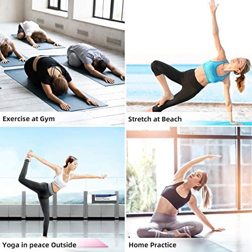 AOAOGYM Yoga Mat Non Slip Exercise Fitness Mat with Free Backpacks and Straps,Workout Mat for Yoga, Pilates & Exercises, Anti - Tear, Sweat - Proof, Classic 1/4 Inch
