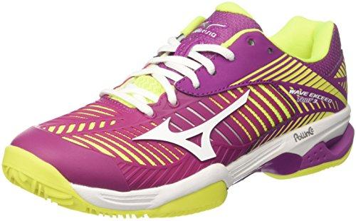 CC Wos Chaussures Tour Tennis Femme de Mizuno Cloverwhitesafetyyellow Wave Rose Exceed qIwtXxaS