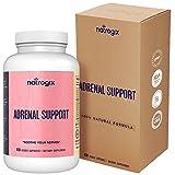 Adrenal Support Complex by Natrogix: 15 Adaptogenic Herbs, Amino Acids, Vitamins to Clear Brain Fog, Fatigue and Chronic Stress includes Ashgawanda,L-Tyrosine,Rhodiola Rosea, Gotu Kola, 30 Day Supply