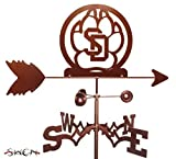 UNIVERSITY of SOUTH DAKOTA USD COYOTES GARDEN Stake Weathervane ~NEW by SWEN Products