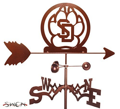 UNIVERSITY of SOUTH DAKOTA USD COYOTES GARDEN Stake Weathervane ~NEW by SWEN Products by SWEN Products