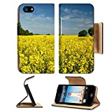 MSD Premium Apple iPhone 5 iPhone 5S Flip Pu Leather Wallet Case iPhone5 IMAGE ID 19787233 Beautiful view of wind turbine on field of oil rapeseed