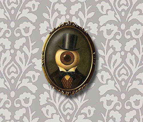 Steampunk Brooch - Eyeball Man Pin - Gothic Brooch - Victorian Style - Gothic Style - Unusual - Halloween -Sci Fi - Spooky - Paranormal - Twilight Zone ()