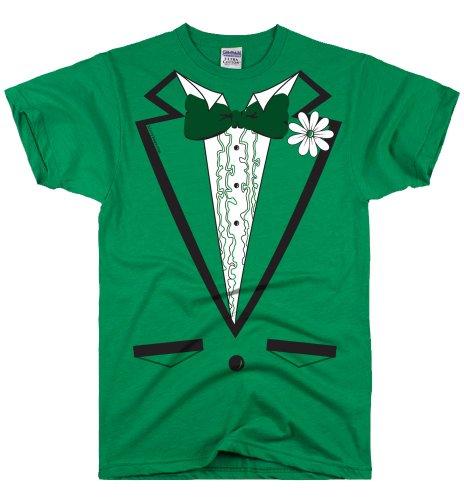 (DirtyRagz Men's Green Irish Tuxedo Tux T Shirt M Kelly Green )