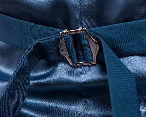 Slim Uomo Smanicato Guiran Blu1 Gilet Panciotto Elegante Fit Blazer vwtfSq