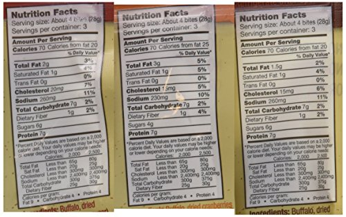 Tanka Bites Buffalo Meat Variety 3 oz Pack of 3