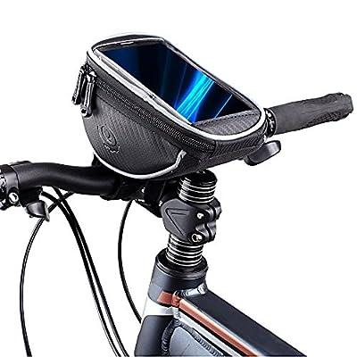 Bicycle Mountain Road MTB Bike Front Frame Tube Handlebar Bag Cycling Basket for Cellphone Phone