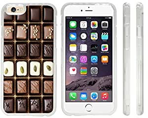 Rikki KnightTM Box of Gourmet Chocolates Design iPhone 6 Case Cover (Clear Rubber with front bumper protection) for Apple iPhone 6