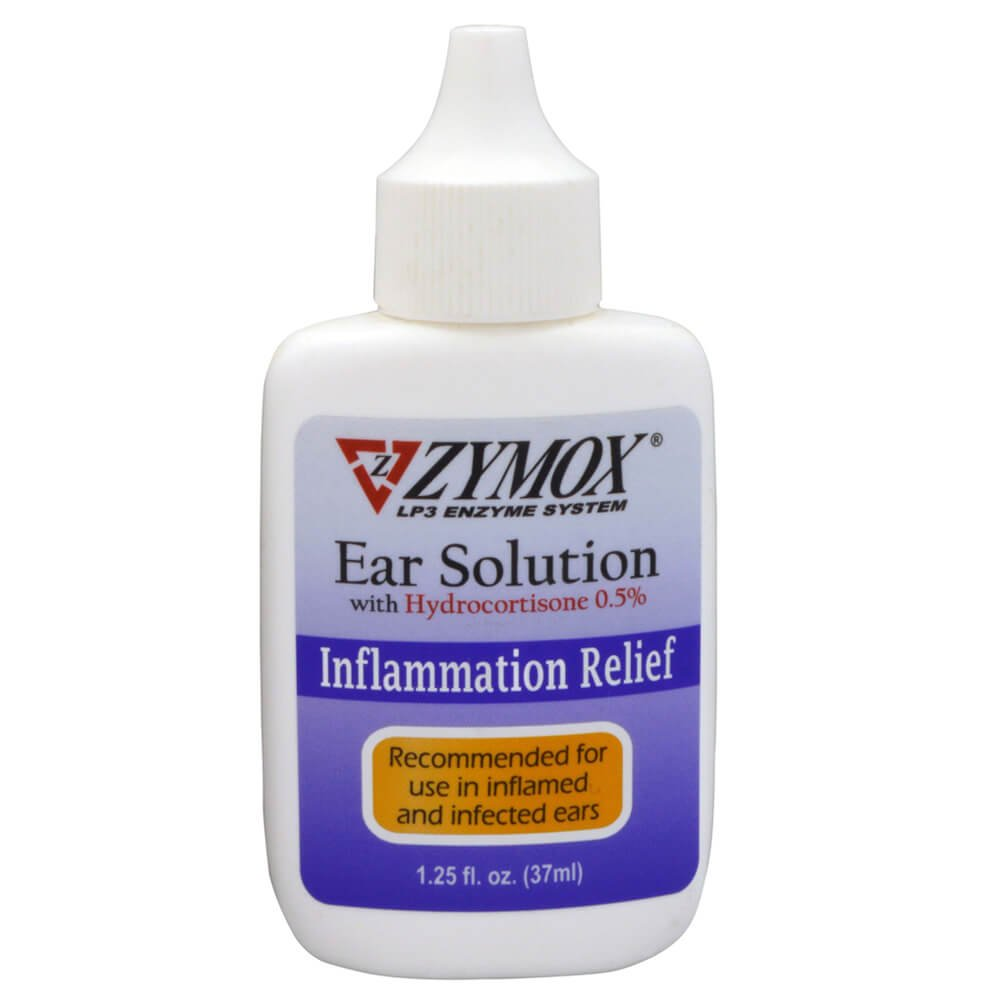 Zymox Enzymatic Ear Solution  with 0.5-Percent Hydrocortisone, for Dog & Cat, 1.25 oz