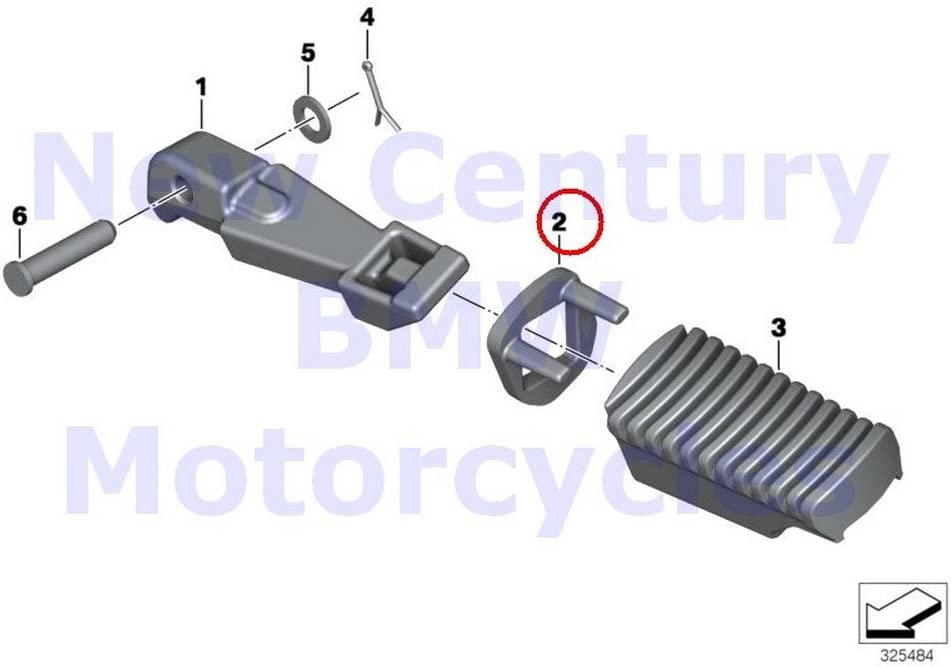 BMW Genuine Motorcycle Footpeg System Rear Footrests Right Thrust Washer F700GS F650GS F800GS F800GS Adventure