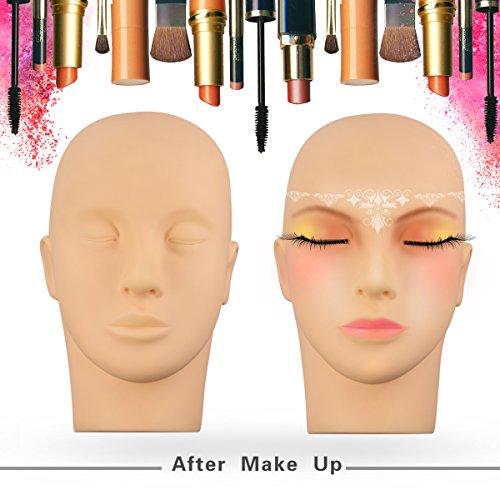 Eyelashes Makeup Massage Practice Cosmetology Manikin Mannequin Training