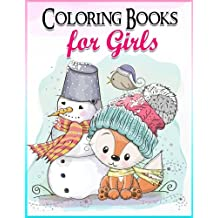 Coloring Books for Girls: Gorgeous Coloring Book for Girls: The Really Best Relaxing Colouring Book For Girls 2017 (Cute, Animal, Penguin, Panda, Dog, Cat, Owls, Bears, Kids Coloring Books Ages 2-4, 4-8, 9-12)