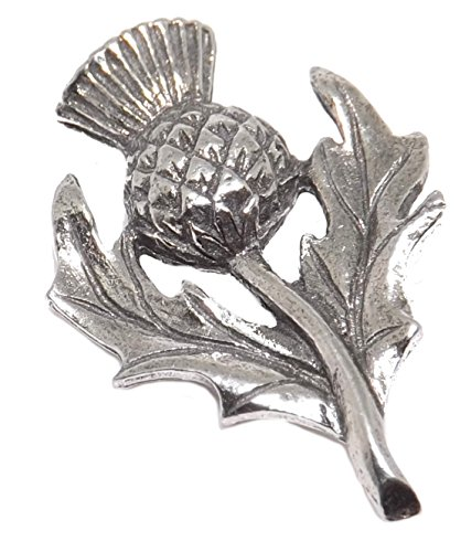 Cufflinks Direct Scottish Scott Scotland Pewter Rugby Thistle Stock Tie Lapel Pin Badge Brooch (Lapel Pin With Gift Box)