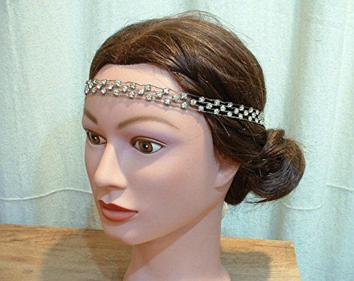 ORIGINAL Vintage 1920s Downton Abbey Crystal Headband, Art Deco Hairpiece Accessory, Great Gatsby Rhinestone Bridal Head Band, Antique Flapper Jewelry by AmoreTreasure
