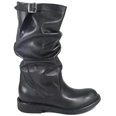 Bikerstiefel Italy In Made Boots Stiefel Damen Echtleder derBoCxW