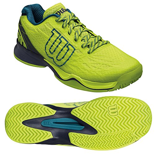 Wilson Kaos Mens Tennis Shoes Green (Lime Punch / Navy Blazer / Blue Coral) KPCWbOvvZ5