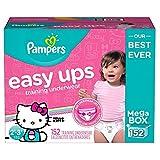 Pampers Easy Ups Training Underwear for Girls, Dora the Explorer (2T-3T, 152-Pack)