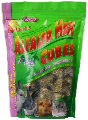 F.M. Brown's Falfa Cravins Treats, 16-Ounce, Alfalfa Cubes Treat