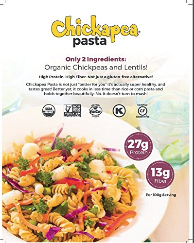 Chickapea Organic Chickpea and Red Lentil Pasta Spirals Wholesale US 20lb Pkg by Chickapea (Image #3)