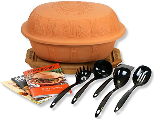 Clay Glazed Classic Cooker (Romertopf Turkey Glazed Clay Cooker, Cutting Board, Cookbooks, Utensil Sets)