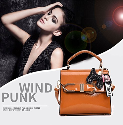 Leather Faux Bags Top Cross Women's Bags Handbags Body Shoulder Brown Bags Handle gcIfWww7nq