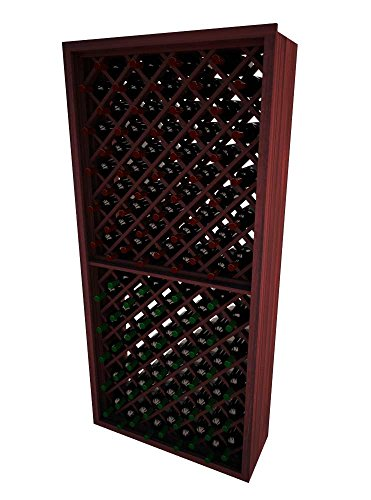 Wine Cellar Innovations DR-CM-INDDIA-G2_LAQG1-A3 Designer Series Individual Diamond Bin Wine Rack, Premium Redwood, With Lacquer Finish, Classic Mahogany Stain