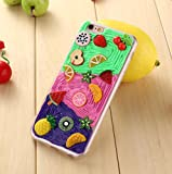 iPhone 6/6S Plus Fruit Salad Shell,OMORRO New Unique 3D Happy Time Pineapple Lemon Pitaya Fruit Land Ultrathin Anti-Scratch Personality Defend Cover Case For Apple iPhone 6/6S Plus Trapezoid Dish offers