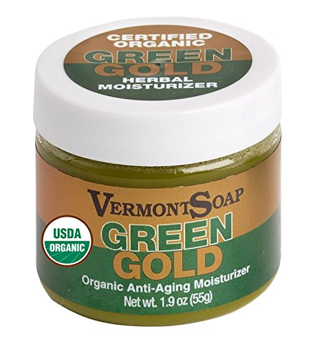 Certified Organic Green Gold Herbal Moisturizer 1.9 oz made in New England