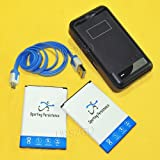 (Sporting Persistence Combo Pack) 2x 4000mAh LG G Stylo LS770 H631 H634 MS631 Replacement Battery + Compact Desktop Wall Charger Kit for Home,Office or Travel + Micro USB Sync Data Cable Charging 3ft