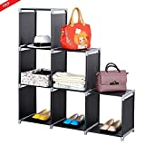 Cubical Shelf Organizer Storage Unit Adjustable 6-Cubby Stackable Storage Sections Organizer Decorative Indoor Home Office Entryway Decor Furniture Bookcase & eBook by BADA shop