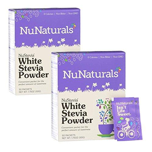 NuNaturals Nustevia White Stevia Powder, 100 Count ()