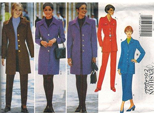 (4667 UNCUT Butterick Misses Sewing Pattern Jacket Skirt Pants Size 6 8 10)