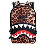 large animal blower - VINICIO Womens / Mens Fashionable Beautiful Personality Domineering 3D Pattern Casual Bags Teenager Student Backpack Outdoor Travel Bags(BrownShark)
