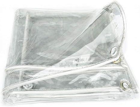 Garden Ting Tissu en Plastique Mou de PVC imperm/éable Transparent ext/érieur de Tissu imperm/éable Rideau Anti-UV de Balcon Coupe-Vent de fen/être