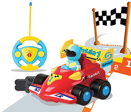 Liberty Imports Cartoon R/C Formula Race Car Radio Control Toy by (Assorted (Radio Control Race Car)
